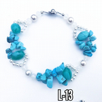 Blue Turquoise & Pearl protection band
